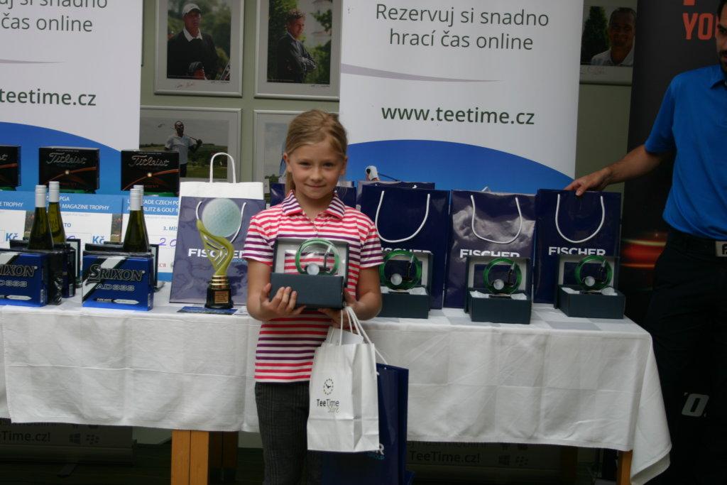 Vítězka v kategorii 7 - 8 let, dívky - PELECHOVÁ Elisabeth