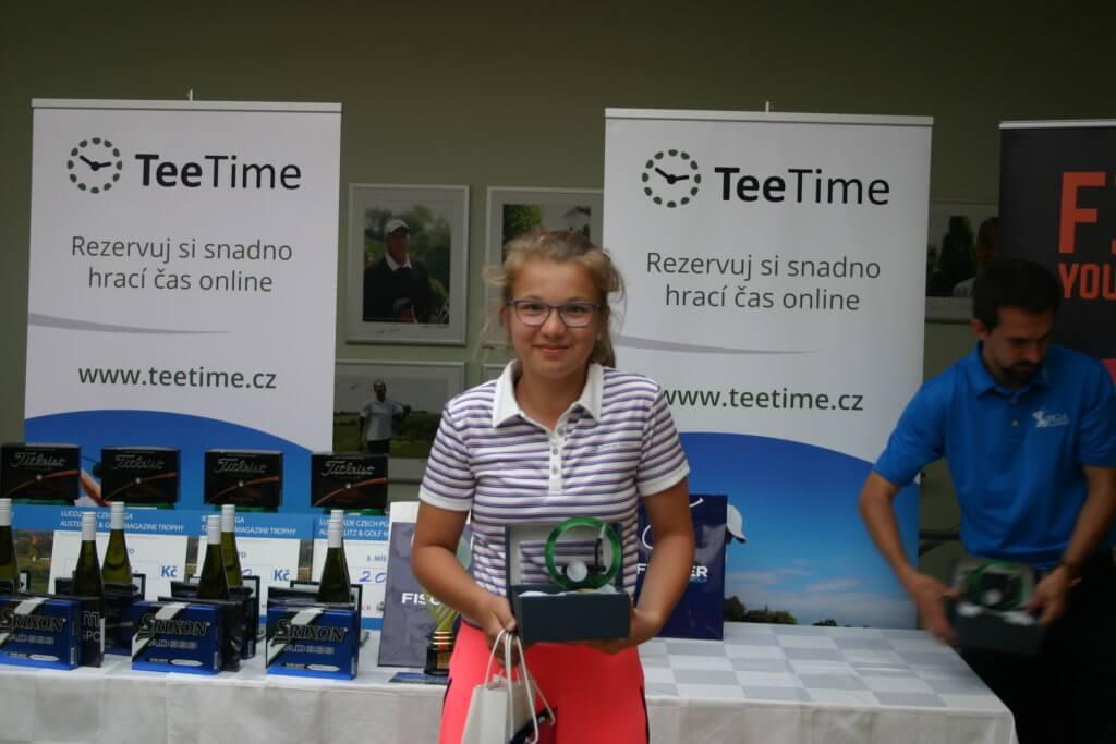 Vítězka v kategorii 11-12 let, dívky - SCHWARZOVÁ Tereza