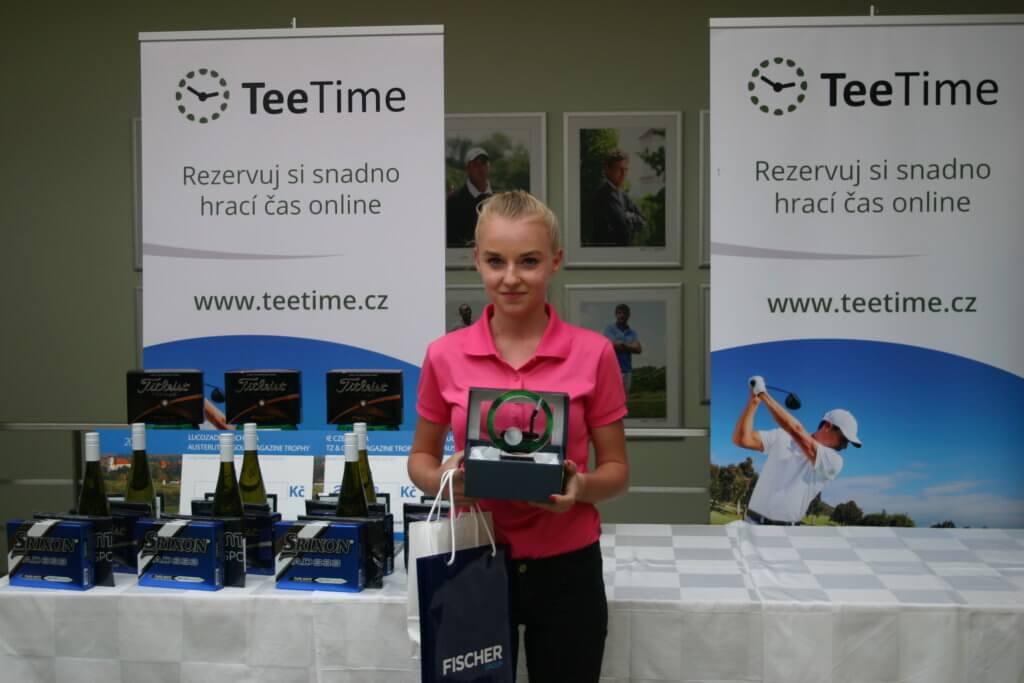 Vítězka v kategorii 13-18 let, dívky - NOVÁKOVÁ Karolína