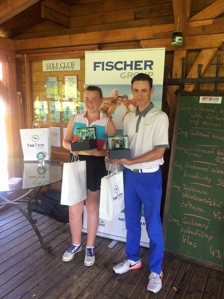 Aneta Soukupová a Jan Lekeš - vítěz v kategorii 13-18let chlapci