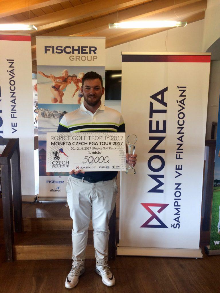 Martin Příhoda - vítěz Ropice Golf Trophy 2017