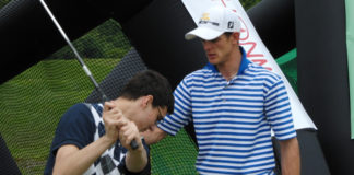 Výuka golfu.